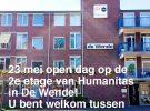 23 mei open dag op de 2e etage van Humanitas in De Wende!